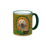 St Patricks - Pot of Gold - GoldenDoodle Ringer Coffee Mug