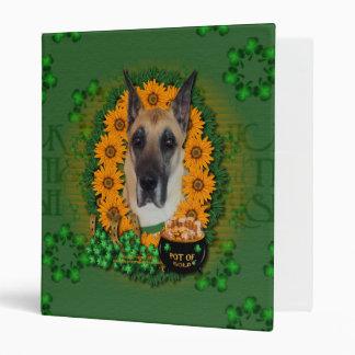 St Patricks - Pot of Gold - Great Dane Vinyl Binders