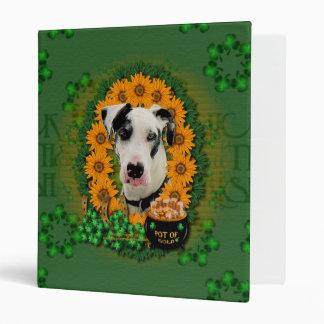 St Patricks - Pot of Gold - Great Dane - Harlequin Vinyl Binders