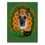 St Patricks - Pot of Gold - Great Dane Postcard