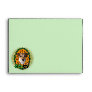 St Patricks - Pot of Gold - Jack Russell Envelope