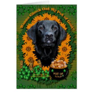St Patricks - Pot of Gold - Labrador - Black -Gage Card