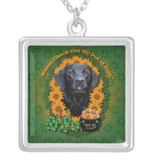 St Patricks - Pot of Gold - Labrador - Black -Gage Jewelry