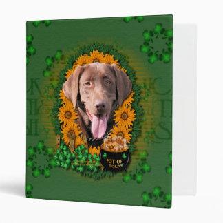 St Patricks - Pot of Gold - Labrador - Chocolate Binder