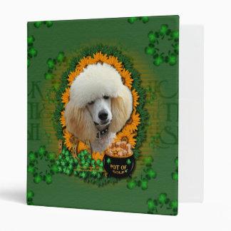 St Patricks - Pot of Gold - Poodle - Apricot 3 Ring Binder