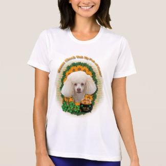 St Patricks - Pot of Gold - Poodle - White Tshirt