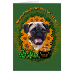 St Patricks - Pot of Gold - Pug Card