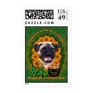 St Patricks - Pot of Gold - Pug Stamps