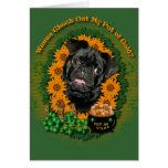 St Patricks - Pot of Gold - Pug - Ruffy Greeting Cards