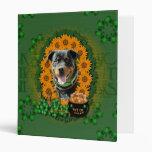 St Patricks - Pot of Gold - Rottweiler -SambaParTi Vinyl Binders