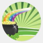 St.Patrick's Pot of Gold Round Sticker
