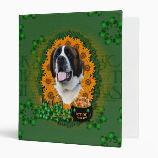 St Patricks - Pot of Gold - Saint Bernard - Mae Vinyl Binders