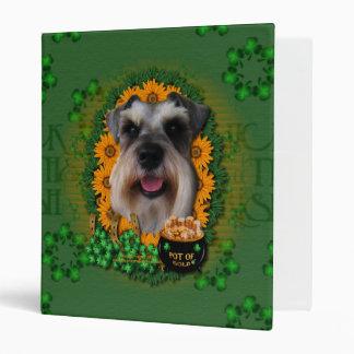 St Patricks - Pot of Gold - Schnauzer Vinyl Binder