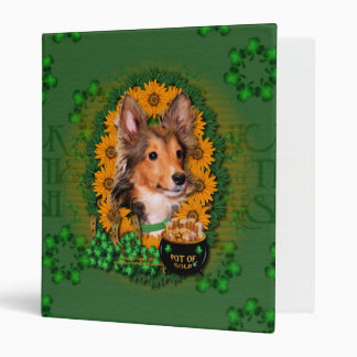St Patricks - Pot of Gold - Sheltie - Cooper Vinyl Binder