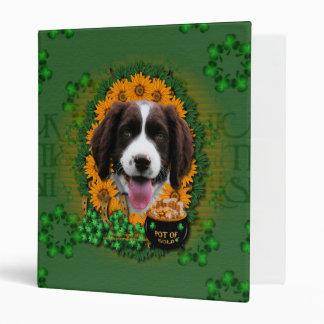 St Patricks - Pot of Gold -Springer Spaniel Baxter Binder