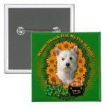 St Patricks - Pot of Gold - West Highland Terrier Button