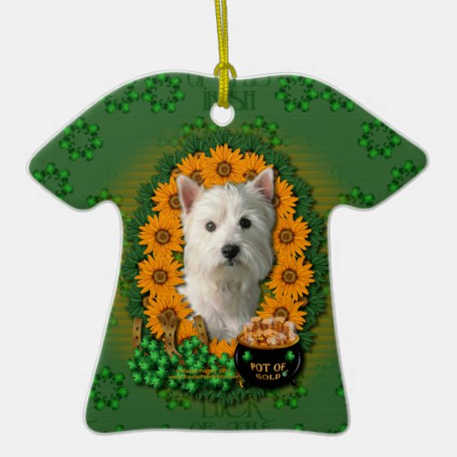 St Patricks - Pot of Gold - West Highland Terrier Ornaments