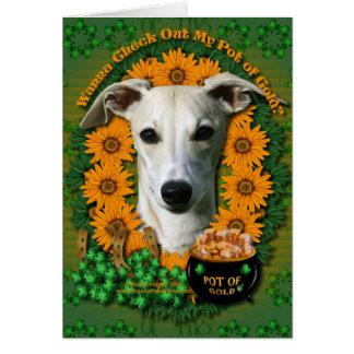 St Patricks - Pot of Gold - Whippet Card