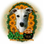 St Patricks - Pot of Gold - Whippet Acrylic Cut Out