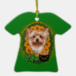 St Patricks - Pot of Gold - Yorkshire Terrier Christmas Ornaments