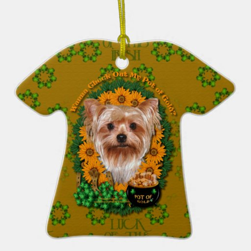 St Patricks - Pot of Gold - Yorkshire Terrier Ornaments