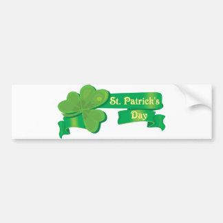St Patrick's Ribbon Bumper Sticker