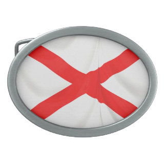 St Patrick's Saltire Northern Ireland Patriotic Oval Belt Buckle