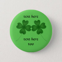 St Patricks shamrocks Button
