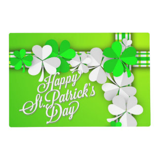 "St. Patrick's ""Shamrocks/Ribbon"" - Customize Placemat"