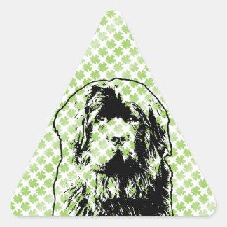 St Patricks - silueta de Terranova Calcomanía Trianguladas Personalizadas