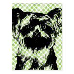 St Patricks - silueta de Yorkshire Terrier Postal