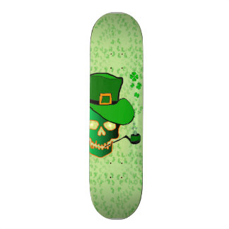 St Patricks skull Skateboard