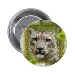 St. Patrick's Snow Leopard Buttons