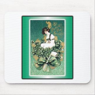 St. Patrick's Souvenir Vintage Victorian Post Card Mouse Pad
