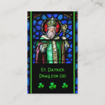 St. Patrick's Stained-Glass Prayer Holy Card