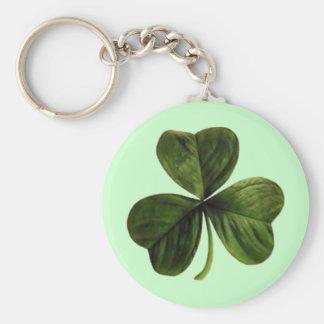 St. Patrick's Three Leaf Clover Keychain