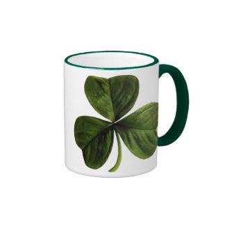 St. Patrick's Three Leaf Clover Ringer Coffee Mug