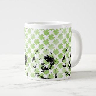 St Patricks - Tibetan Terrier Silhouette Large Coffee Mug