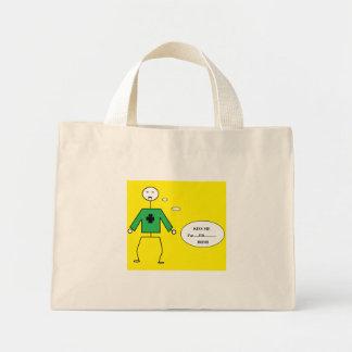 st. patrick's vampire stick figure mini tote bag