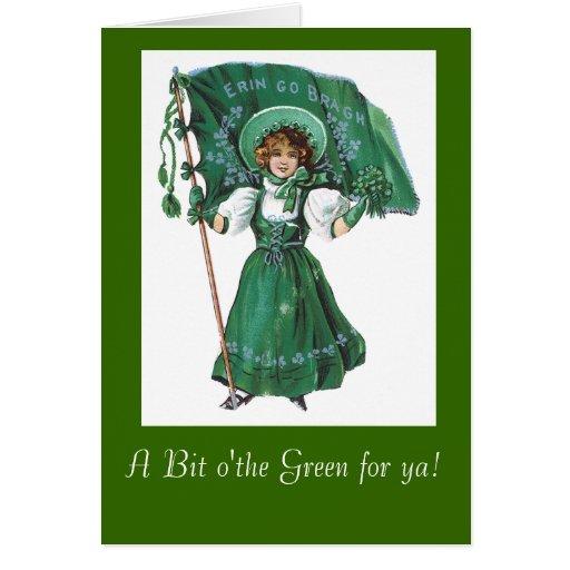 St. Patricks Vintage greeting card