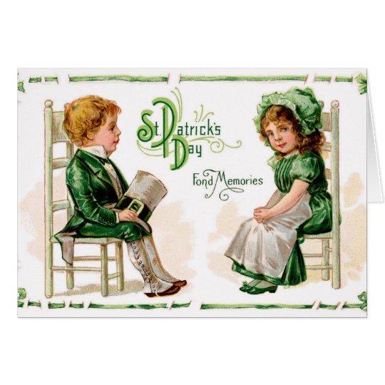 St. Patricks Vintage greeting card - Kids card