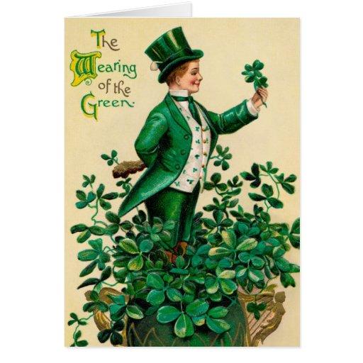 St Patricks Vintage Irish Greeting Card