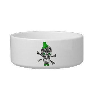 St. Patrick's Zebra Skull Bowl