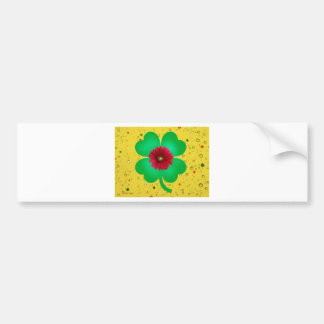 St Patricks's Day 4 Leaf Clover.jpg Bumper Sticker