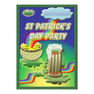 "St. Patricks's Day Party Personal Invites 4.5"" X 6.25"" Invitation Card"
