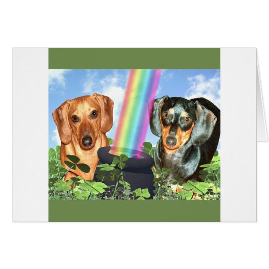 St Patricts Day Doxies Card