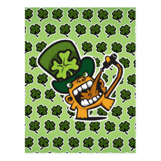 St Pat's Beer Monkey Postcard