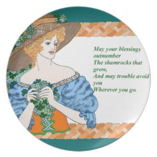 St. Pat's Blessing Melamine Plate