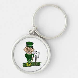 St Pats Clover Race Keychain