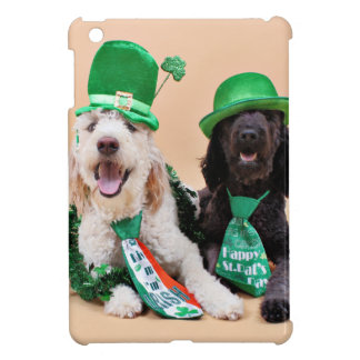 St Pats Day - GoldenDoodles - Sadie and Izzie iPad Mini Case